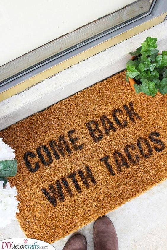 A Funny Doormat - Welcoming Guests the Best Way