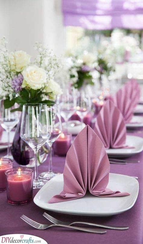 Shell Shapes - Folding Your Wedding Napkins
