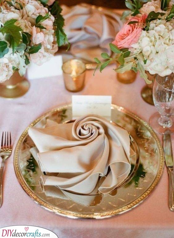 The Essence of a Rose - Floral Napkins