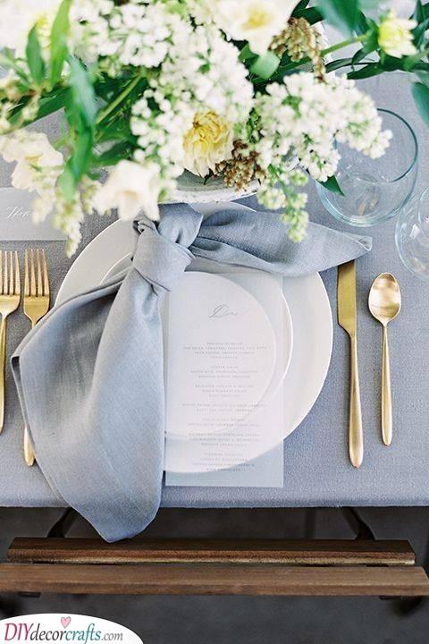 A Pretty Bow - Personalised Wedding Napkins