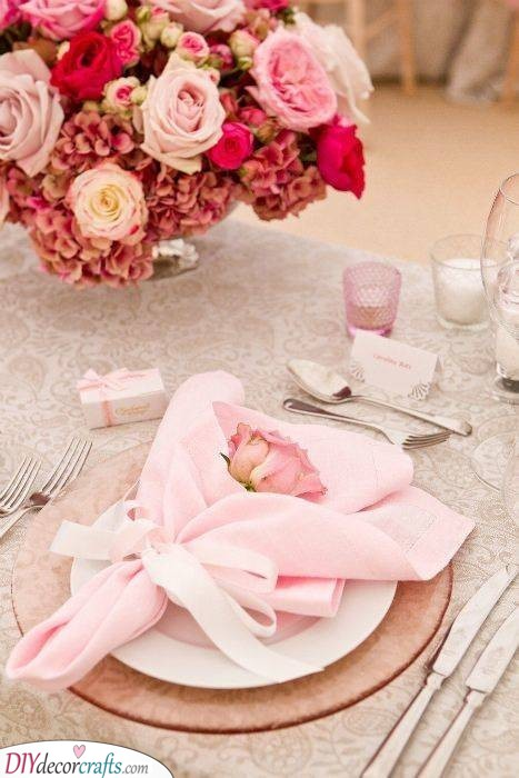 A Romantic Resolution - Roses and Napkins