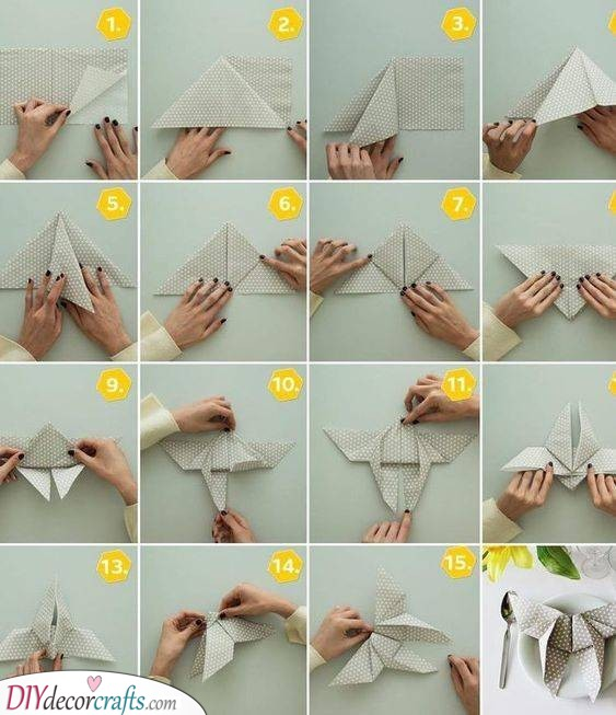 Beautiful Butterfly - Origami Techniques for Napkins