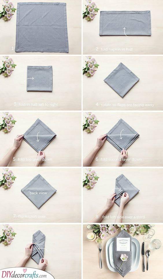 Elegant Folds - DIY Wedding Serviettes