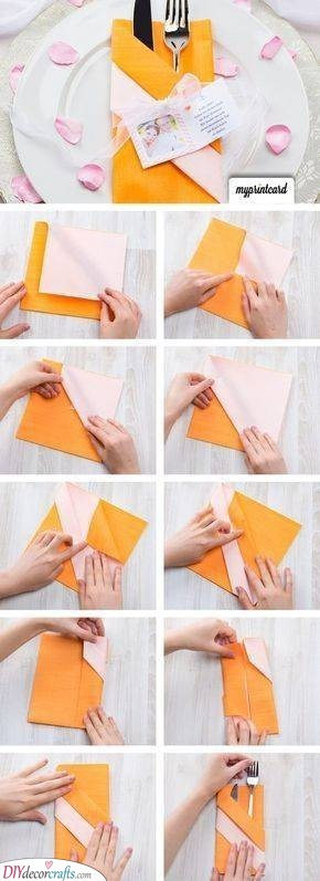 A Pocket for Your Knife and Fork - Wedding Napkin Ideas