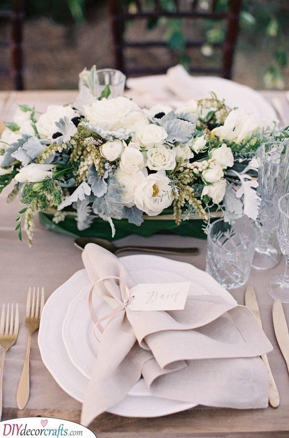 Rustic Elegance - Perfect Personalised Wedding Napkins