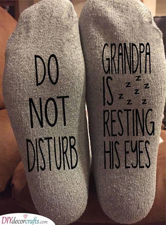 Funny Socks - Gift Ideas for Grandparents