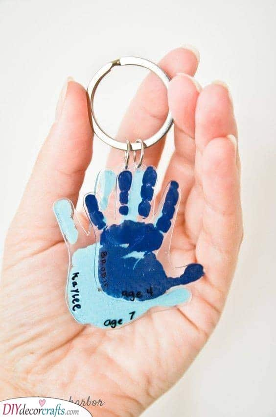 Hand Keychains - Gifts for Grandparents