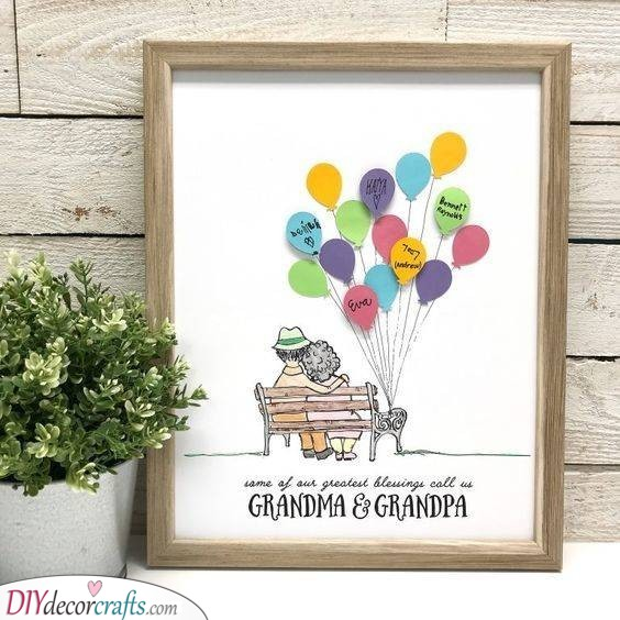 A Bunch of Balloons - Beautiful Presents for Grandparents