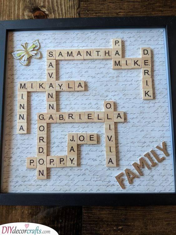 Personalised Scrabble Board - A Heartfelt Present
