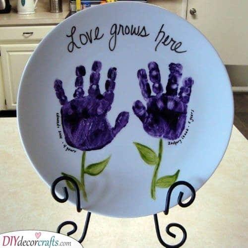 Floral Handprints - Adorable Presents Ideas for Grandparents