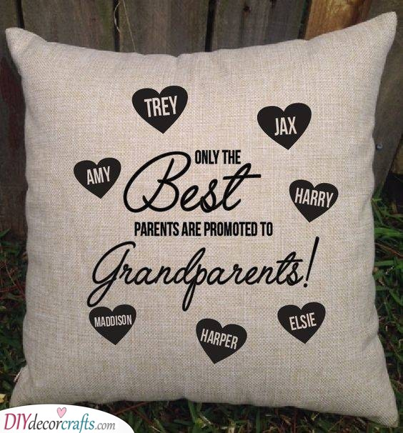 A Pillow Full of Love - Gifts for Both the Grandparents