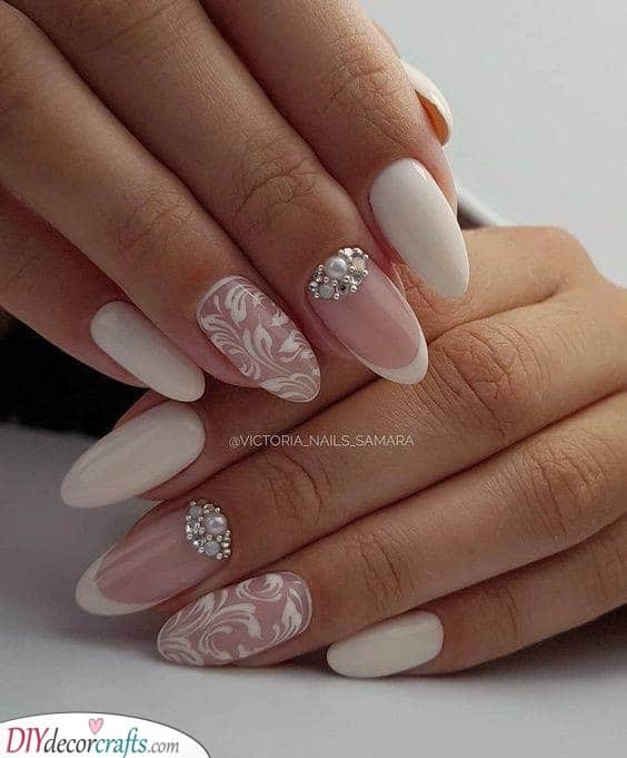 Lace Effect - Wedding Nails for Bride