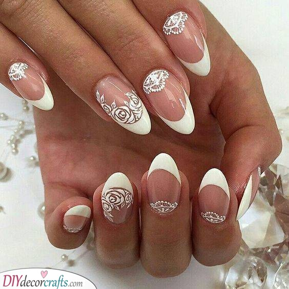 Lace and Roses - Nail Ideas for Your Big Day