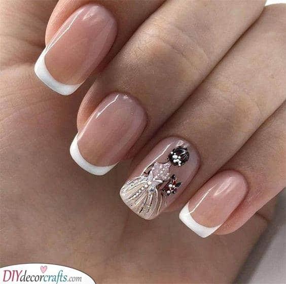 A Bridal Picture - Unique Wedding Nails for Bride