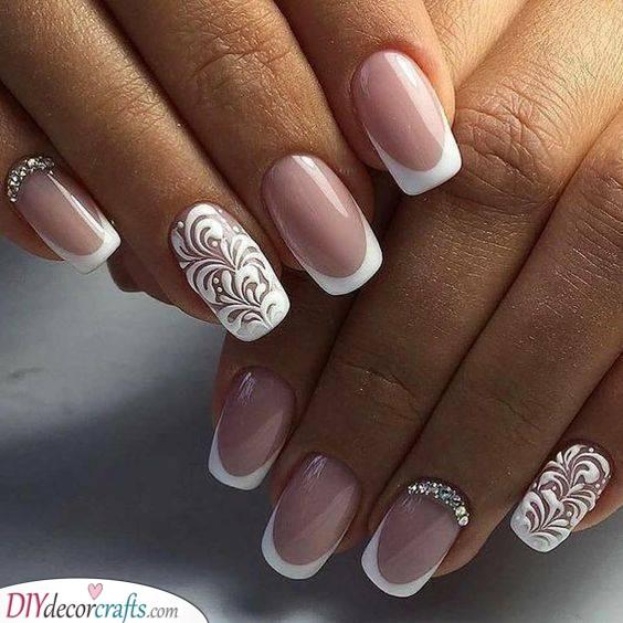 Natural Element - Elegant Wedding Nails for Bride