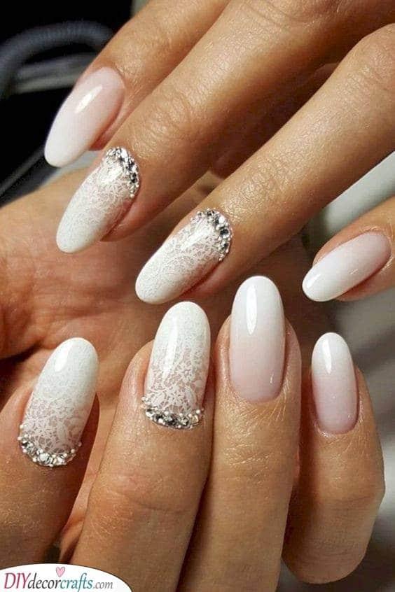 Delicate Wedding Nails - Wedding Nail Ideas