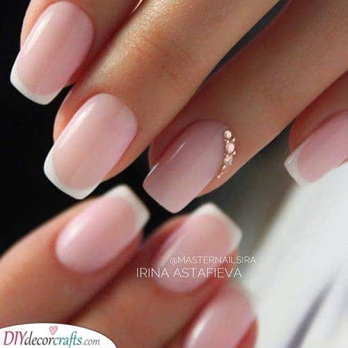 Pink Simplicity - Great Wedding Nail Ideas