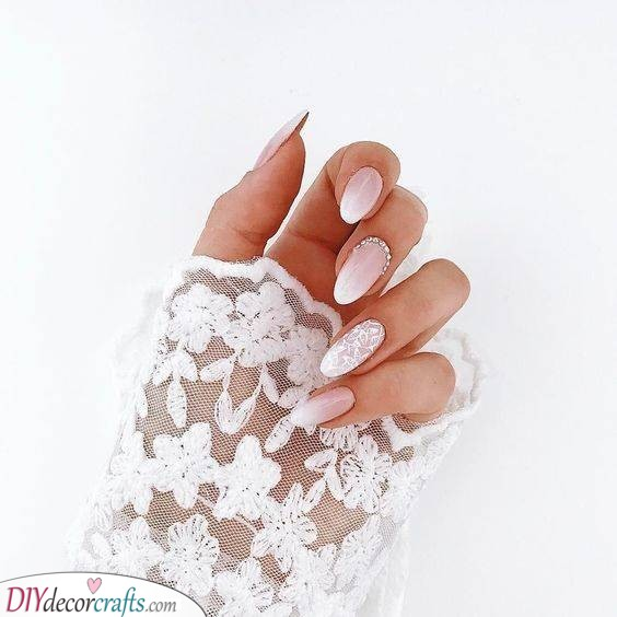 Pale Shades - Lovely Wedding Nail Ideas