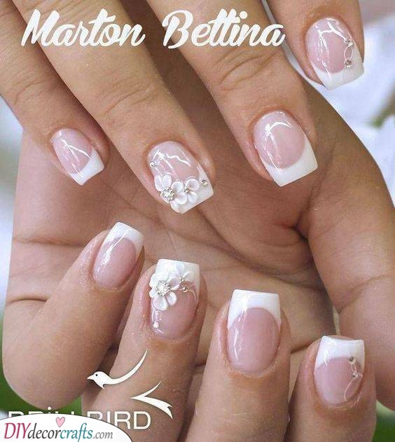 Simple Florals - Decorating Your French Manicure