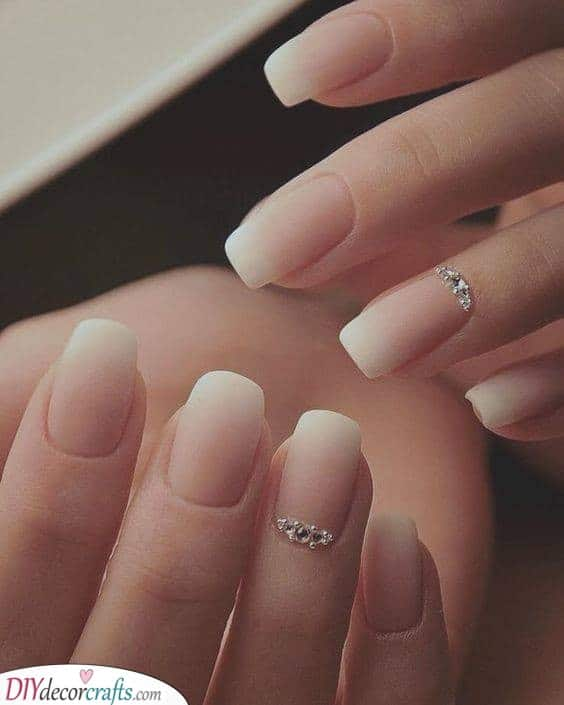 Matte Ombre Nails - Inspiration for Your Wedding