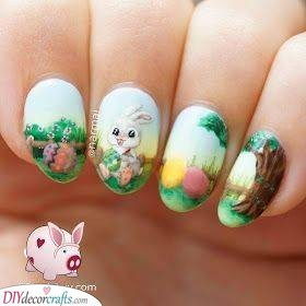 Picturesque Drawings - Beautiful Easter Nails