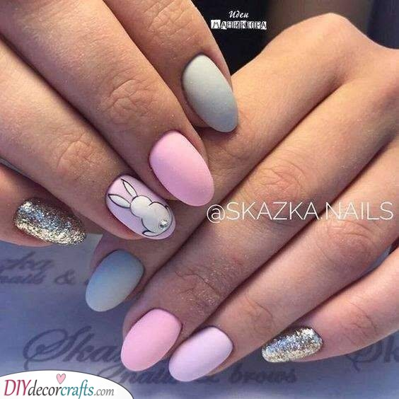 Glitter and Pastel - A Perfect Combination