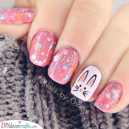 An Essence of Spring - Pink Nail Art