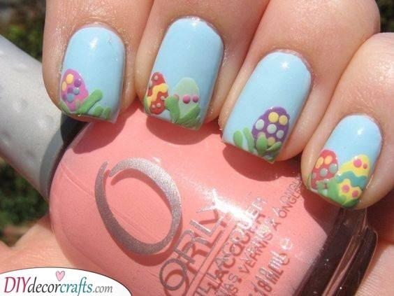 Easter Egg Hunt - Cute Easter Nails