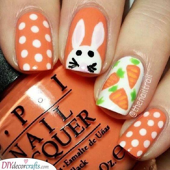 Crunchy Carrots - Ideas for Orange Nails