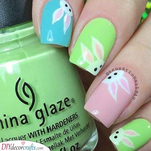 Pastel Spring Rabbits - Cute and Sweet