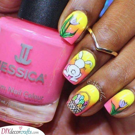 A Colourful Easter Scene - Great Nail Ideas