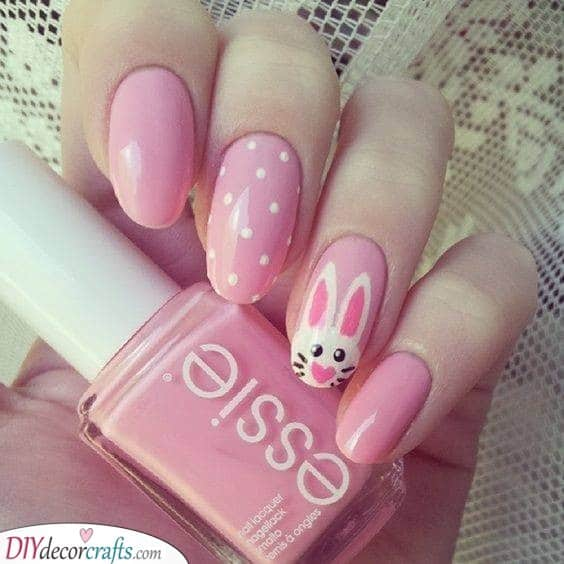 Pretty in Pink - Easter Nail Art
