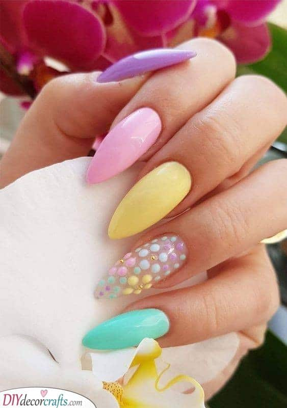 A Variety of Pastel - Simple Nail Art