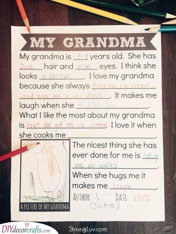 An Adorable Description - Present Ideas for Grandma