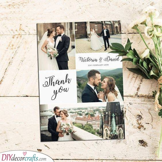 Creative Collage - Photo Wedding Thank You Cards