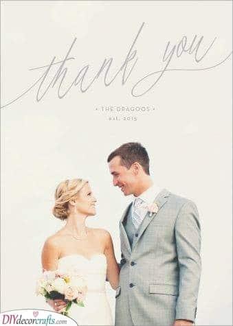 White Bliss - Beautiful Wedding Thank You Card Ideas