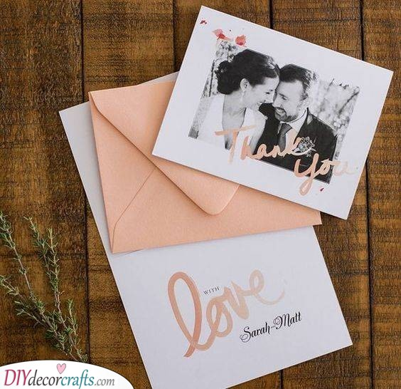 An Envelope of Love - Personalised Wedding Thank You Cards