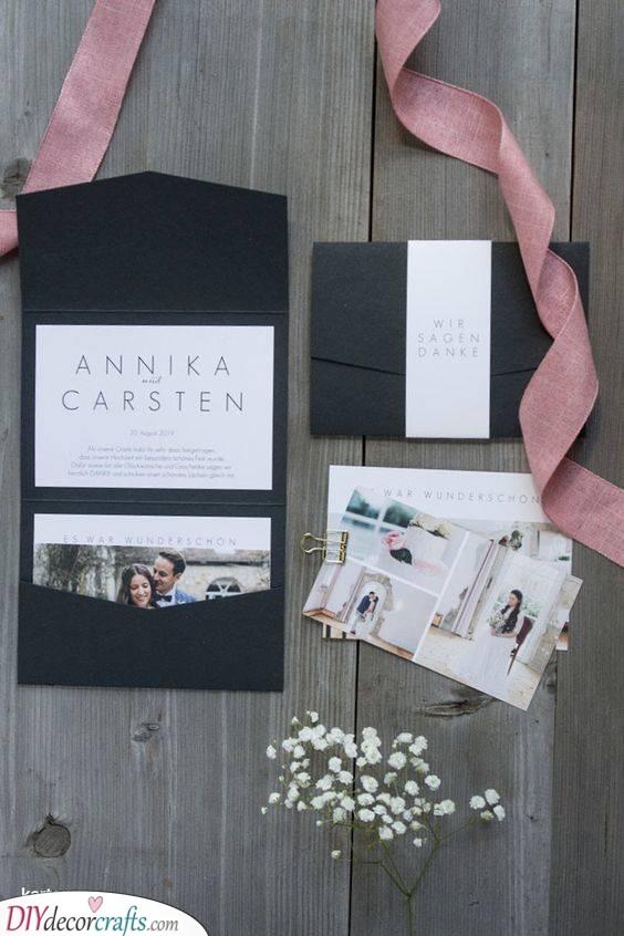 Gorgeous Idea - Pocket Wedding Thank You Card