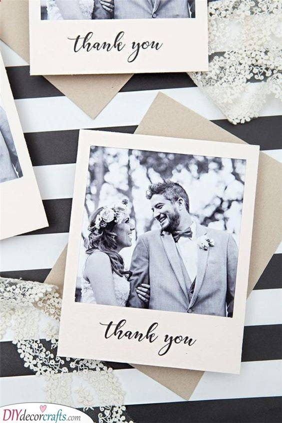 Monochrome Beauty - Rustic Wedding Thank You Cards
