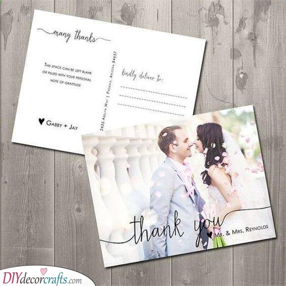 Postcard Effect - Lovely Wedding Thank You Cards