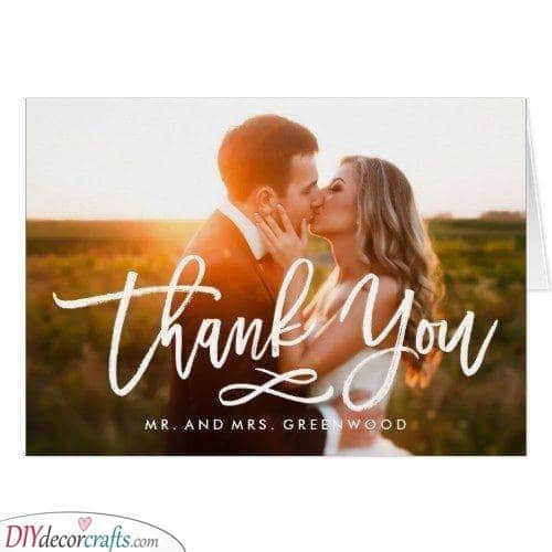 Simple and Sophisticated - Personalised Wedding Thank You Cards