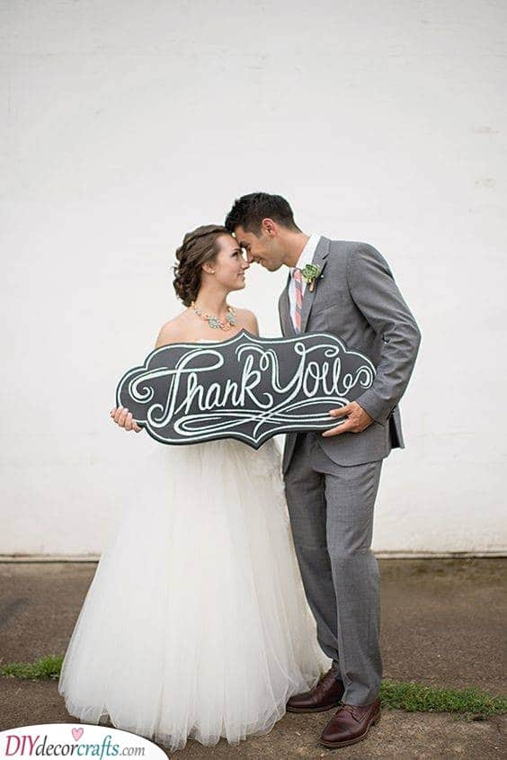 A Chalkboard Thank You - Great Gratefulness