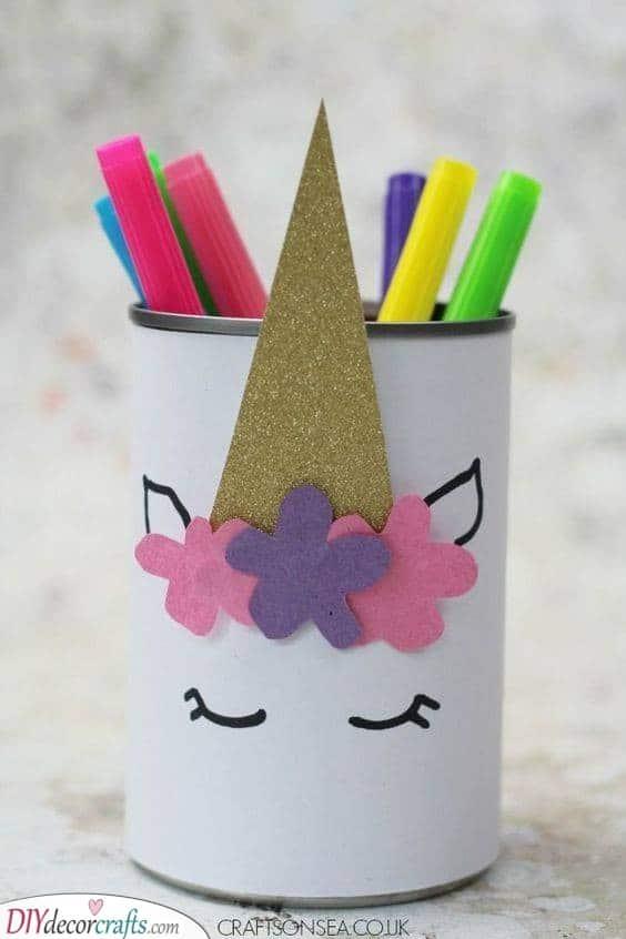 Unicorn Pencil Holder - Keeping Your Kid's Desk Neat
