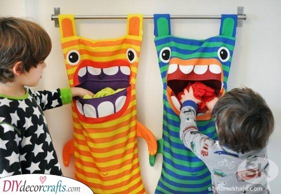 Hungry Monsters - Ideas for Laundry Bags
