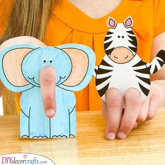 Paper Finger Puppets - Personalised Children's Gifts