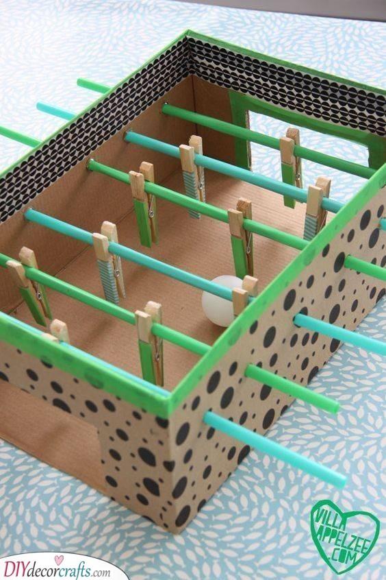 Table Soccer - Homemade Gifts for Kids