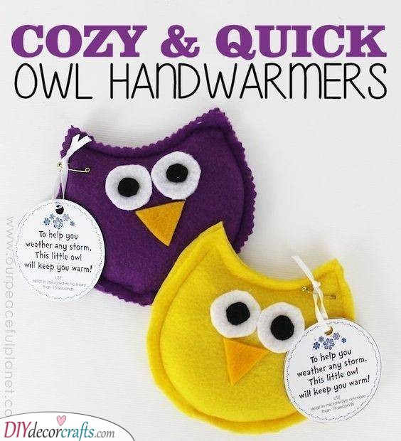 Owl Handwarmers - Great Gift Ideas for Children