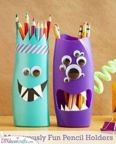 Monster Pencil Holders - Personalised Childrens Gifts