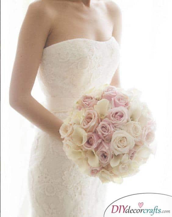 A Ball of Roses - Elegant Bridal Bouquet