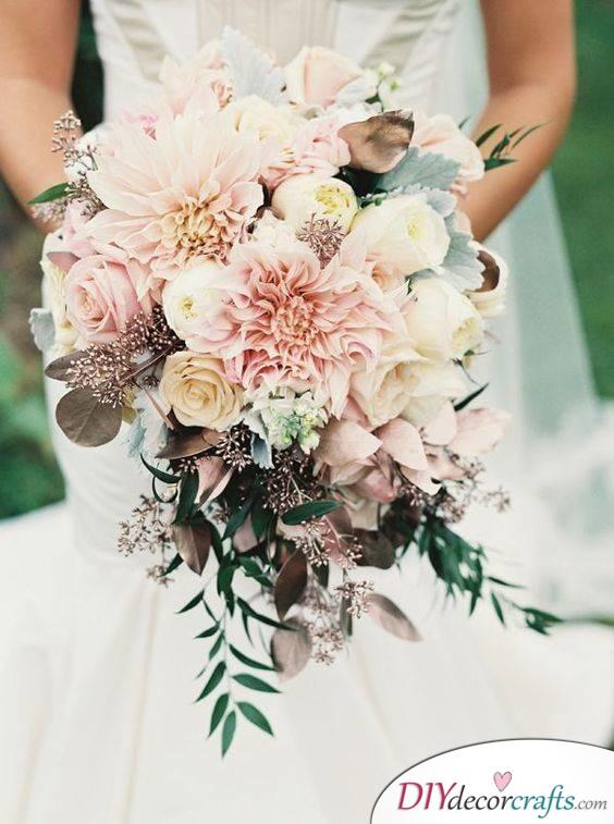 Dusty Rose - Wedding Bouquet Ideas